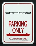 Sign, Camaro Parking Only, Third Gen Camaro Logo