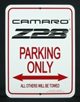 Sign, Camaro Parking Only, Third Gen. Camaro Z28 Logo