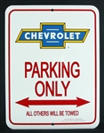 Sign, Parking Only, Chevrolet Bowtie