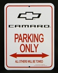 Sign, Camaro Parking Only, Fifth Gen Camaro Logo