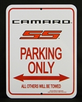 Sign, Camaro Parking Only, Fifth Gen Camaro SS Logo