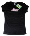 """Camaro By Chevrolet"" Rhinestones T-Shirt, Ladies"