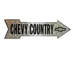 Sign, Metal, Chevy Country