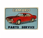 Sign, Metal, Camaro Parts Service