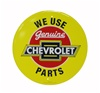 We Use Genuine Chevrolet Parts Metal Sign, 12 Inch