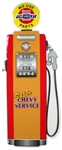 """We Use Genuine Chevrolet Parts / Super Chevy Service"" Gas Pump Metal Tin Sign"