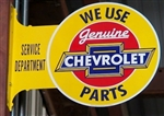 Metal Tin Stand Out Sign, We Use Genuine Chevrolet Parts