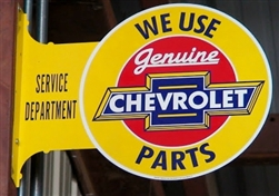 Camaro Sign, Metal, We Use Genuine Chevrolet Parts