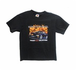 T-Shirt, Camaro With Flames, Youth