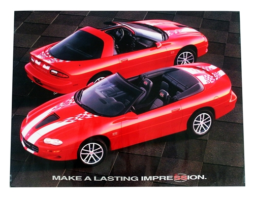 2002 Camaro SS 35th Anniversary Poster GM NOS