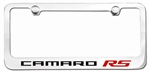 Custom Camaro Engraved RS License Plate Frame