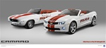 1969 and 2011 Camaro Indy 500 Pace Cars Poster