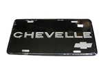 "License Plate, ""Chevelle"" with Bow Tie Logo"