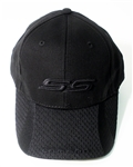 Black Baseball Hat Cap with BLACK SS and CAMARO on the Bill