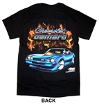 "T-Shirt, ""Chevrolet Camaro"" with Blue Z28 and Flames, Black, Adult"