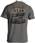 T-Shirt, Garage Scene Camaro Fifty, Grey