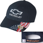 Chevrolet Bowtie American Bald Eagle Baseball Cap Hat