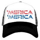 New 'MERICA Trucker Hat Red, White, and Blue Baseball Cap