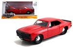 BIGTIME MUSCLE RED 67 CHEVY CAMARO 1/24 DIE CAST MODEL