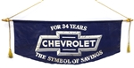 Vintage Chevrolet For 34 Years The Symbol of Savings Showroom Banner