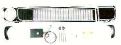 1967 - 1968 Camaro Electric RS BLACK Grille Kit, Rally Sport Conversion with Electric Motor Upgrade, Preassembled