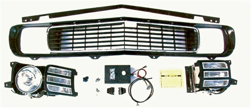 1969 Camaro Complete Electric RS Grille Kit, Rally Sport Conversion with  Electric Motor Upgrade, Preassembled, STAGE 3