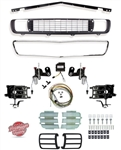 1969 Camaro Rally Sport Conversion Grille Kit with DSE Electric Motors, 122001