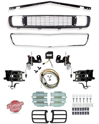 1969 Camaro Rally Sport Conversion Grille Kit with DSE Electric Motors, 122001 / 122003