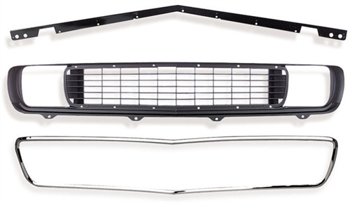 1969 Camaro Rally Sport Conversion Grille Kit with DSE ... on