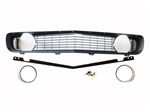 1969 Grille Kit, Standard, Black with Chrome Trim Headlight Bezels