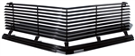 1974 - 1977 Camaro Billet Aluminum Grilles Replacement Set, Upper and Lower, All Black