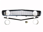 1969 Grille Kit, Standard, Black with Standard Headlight Bezels