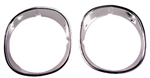 1970 - 1973 Camaro Chrome Headlight Bezels, Pair