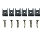 1974 - 1977 Headlight Bezel Mounting Screws and J-Clips Set, Standard, 12 Pieces