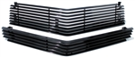 1978 - 1979 Camaro Billet Aluminum Grilles Replacement Set, Upper and Lower, All Black