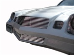 1980 - 1981 Camaro Billet Aluminum Grilles Replacement Set, Upper and Lower, Polished Face with Black Inner Details