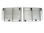 1970 - 1973 Camaro Billet Aluminum Rally Sport Grille Set, All Black