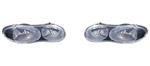 1998 - 2002 Headlight Set with Black Bezel for Chevrolet Camaro, Sold in a Pair