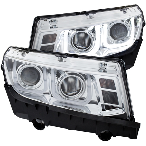 2014 2015 headlight chrome clear projector u bar headlamp for 2014 2015 headlight chrome clear projector u bar headlamp for chevrolet camaro sold in pairs aloadofball Image collections