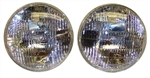 1967 - 1976 Camaro T3 Headlight Headlamp Set, OE Style Ribbed Design, Pair