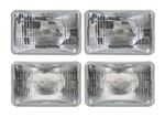 1982 - 1992 Camaro Headlight Headlamp High and Low Beam Halogen Bulb Set