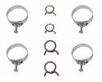 1967 - 1968 Camaro Heater Hose and Radiator Hose Clamps Set, 8 Pieces