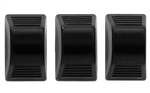 1967 - 1981 Camaro Heater Control Lever Knobs in Black, Set 3