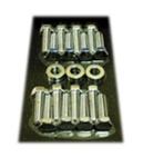 1967 - 1981 Camaro Exhaust Manifold Bolts Set, Big Block, Chrome | Camaro Central