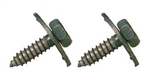 1967 - 1981 Rear Seat Lower Mounting Bolts - Pair