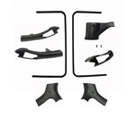 1978 - 1981 Camaro Headliner T-Top Plastic Trim Moldings Set, 8 Pieces