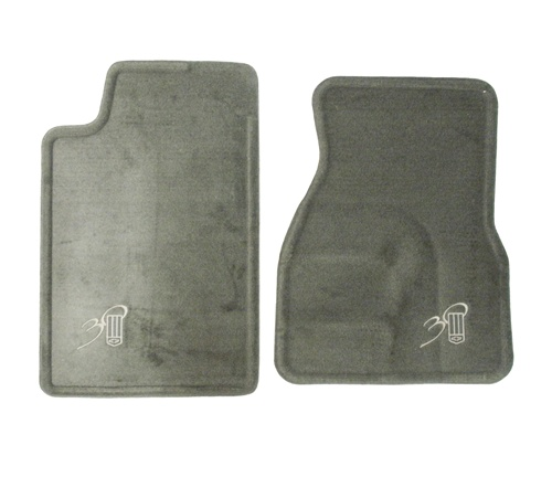 1993 1997 Camaro Floor Mats Set Front 30th Anniversary Gray With Embroidered Bowtie