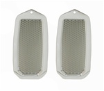 1982 - 1992 Camaro Polished Billet Aluminum Door Jamb Air Vent Louvers with Stainless Inner Mesh