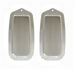 1982 - 1992 Camaro Door Jamb Air Vent Louvers, Billet Aluminum Natural, Stainless Inner Mesh