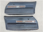 1970 - 1971 Camaro Deluxe Interior Woodgrain Door Panels, Pair GM Used